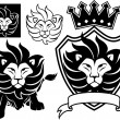 Lion king vector set — Stock Vector