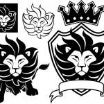 Lion king vector set — Stock Vector #25121739
