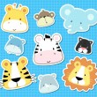 Baby animal vector set - Stock Vector