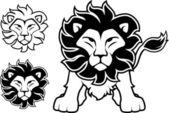 Lion logo vector — Stock Vector