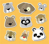 Animal baby vector stickers — Stock Vector