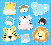 Baby animal vector set — Stock Vector