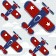 Airplane pattern background — Stockvektor #25857315