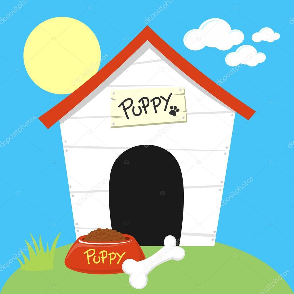 Cute Dog House Cartoon