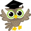Happy owl graduation — Stock Vector