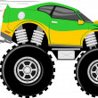 Stock Vector: Monstertruck race car 4x4 cartoon