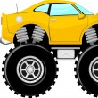 Stock Vector: Monstertruck sport car 4x4 cartoon