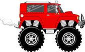 Monstertruck 4x4 cartoon — Stock Vector