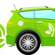 Eco car cartoon — Stock Vector #27113179