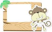 Baby monkey signboard — Stock Vector