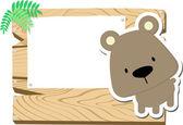 Baby bear sign board — Stock Vector