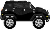 Armored truck bodyguard vehicle — Stock Vector