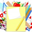 School supplies background — Stock Vector