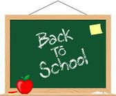 Blackboard back to school — Stock Vector