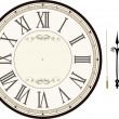 Vintage clock face template — Stock Vector