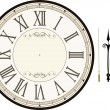 Stock Vector: Vintage clock face template