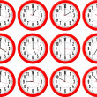 Red clocks isolated — 图库矢量图片