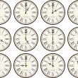 Stock Vector: Vintage clock face times