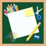 Okulun arka plan — Stok Vektör