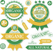 Organic products labels — Stock Vector