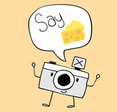 Cute funny camera — Stock Vector