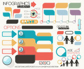 Infographics elements vector set — Stock Vector
