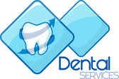 Dental heath services design — Stock Vector