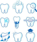 Dental icons vector — Stock Vector