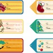 Christmas gift tags — Vector de stock