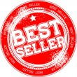 Best seller grunge stamp — Stock Vector