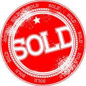 Prodávané grunge razítko vektor — Stock vektor