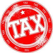 Steuer grunge stamp vektor — Stockvektor