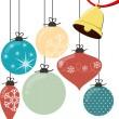 Christmas balls vector — Stockvectorbeeld