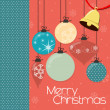 Christmas card background — Stock Vector