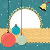 Christmas scrapbook background — Stock Vector