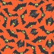 Stock Vector: Halloween bats seamless pattern