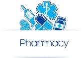 Pharmacy medicines vector design — Stock Vector