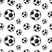Soccer balls seamless background — Stock Vector
