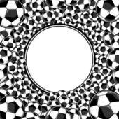 Soccer balls framed background — Stock Vector