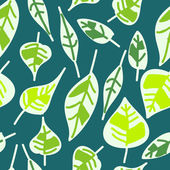 Abstract seamless pattern of green leaves — Stockvektor