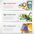 Banners with colorful cells — Vector de stock