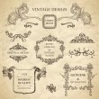 Set of emblems for vintage design - Stock Vector