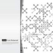 Tarjeta abstracta en escala de grises con cruces — Vector de stock