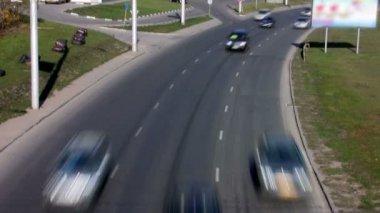 Time Lapse Autos im Zentrum Stadt — Stockvideo