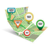 City map with Icons 3 — Stock Vector