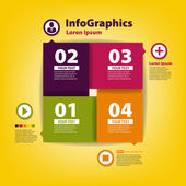 Modern Design template for infographic with icons — Stock Vector