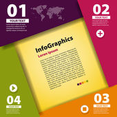 Modern Design template for infographic — Stock Vector