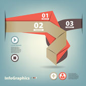 Set of paper tape for infographic — Stock Vector