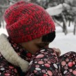 Young mother in Winter Park — Видео
