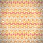 Seamless pattern of shabby vintage rhombs — Stock Vector